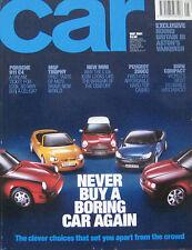 CAR 05/2001 featuring Aston Martin Vanquish,Vauxhall VX220, Lotus, Toyota, MG