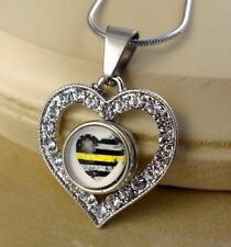 DISPATCHER Heart small snap button crystal heart Necklace gifts for women