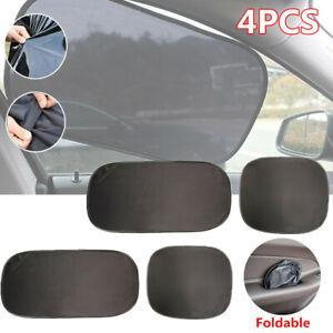4Pcs Car Side Windows Sun Shade Curtain Visor Mesh Shield UV Protector Shading