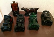 Lot of 6 Avon Men's Cologne Decanters 4 Cars 1 Phone 1 Irish Setter