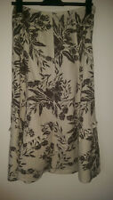 Size 10 Marks and Spencers cream floral linen skirt VGC