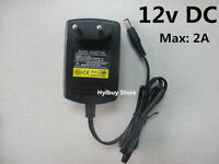DC12V 2A Power Supply Adapter AC 220v 230v to DC 12v converter Charger 5.5mm EU
