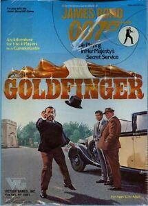 JAMES BOND 007 GOLDFINGER SEALED Boxed Set Victory Games Secret Service Box
