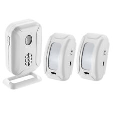 PIR Sensor Wireless Door Bell Welcome Chime Alarm Entry Doorbell with 2 Rec