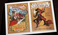 Disneyland Attraction Poster Postcard Walt Disney Gallery Pirates Caribbean DLRR