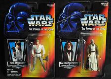 Luke & Obi-Wan Kenobi Star Wars Lot Power of the Force - Kenner (1995) WH