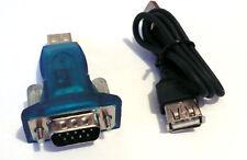 USB to RS-232 Serial 9 Pin DB9 Adapter Converter Programming Repair Cable