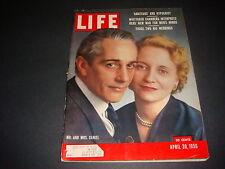 Life Magazine , April 30, 1956 , Mr. and Mrs. Daniel, 2 Big Weddings