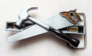 Werkzeug Gürtelschnalle Säge Fuchsschwanz Hammer Wasserwaage Belt Buckle
