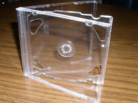 50 NEW DOUBLE 2 CD JEWEL CASES WITH CLEAR TRAY PSC36