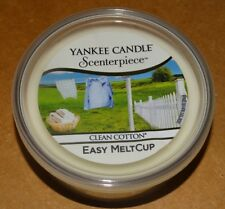 Yankee Candle Scenterpiece Easy Meltcup Clean Cotton New! 24 hr Fragrance