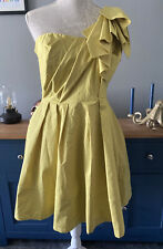 ASOS Size 14 BNWT Yellowy Green One Shoulder Prom Party Dress