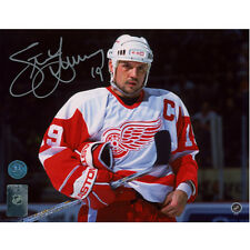 Steve Yzerman Detroit Red Wings Signed 8X10 Intensity Photo