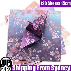 120 Sheets Japanes Origami Square Paper Craft Folding 15cmx15cm 4 Mixed Colours