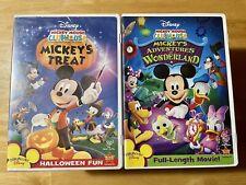 Mickey Mouse Clubhouse Dvd Lot - Mickeys Treat / Mickeys Adventure in Wonderland