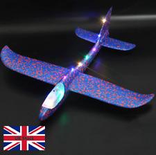 48cm Hand Throw Lighting up LED Flying Glider Plane Glow In The Dark Toys Foam