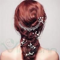 4 Forcine spilloni fermaglio capelli acconciatura sposa perle matrimonio evento
