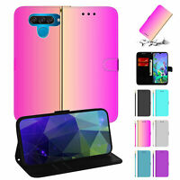 For LG K50/Q60 Glitter Strap Wallet Case Leather Flip Mirror Stand Phone Cover