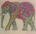 """Needlepoint canvas """"Indian Elephant"""" - Wall art or pillow cover #EL1"""