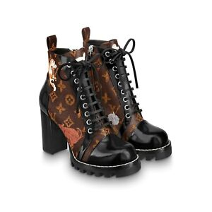 Louis Vuitton Limited Edition Cats Star Trail Ankle Boots size 39 IT