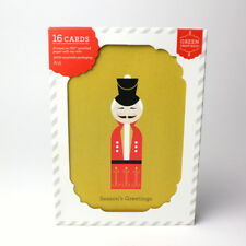 Target Green Inspired Seasons Greeting Boxed Cards Christmas Holiday Toy Soldier