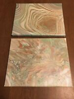 Modern Abstract Art Acrylic Paintings. Set Of Two