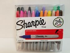 Sharpie Markers Permanent Fine Assorted Colors Open Box 24 Markers