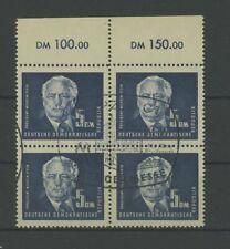 DDR DAUERSERIE 255 PIECK 1951 4er-Block OBERRAND ideal gest. m1168