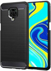 Coque Housse Fibre de Carbone Xiaomi Redmi 8 8A 9A Note 8T Note 9 Pro