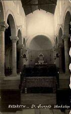 ISRAEL NAZARETH Palästina Galiläa Postcard St. Josephs Kirche Echtfoto-AK ~1940
