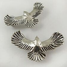 37559 Antiqued Silver Vintage Alloy Flying Bird Charm Pendant Hot Finding 18pcs