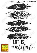 Schablone-Stencil A3 433-5461  Life is Beautyful-Neu- Heike Schäfer Design