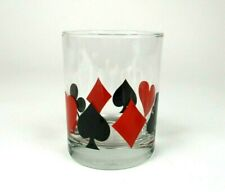 New listing Card Suit Lowball Drink Glasses, Hearts, Spades, Diamonds, Clubs