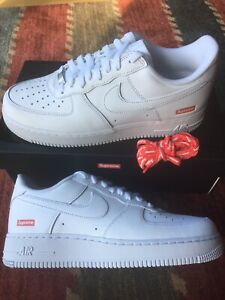 Supreme Air Force 1 Low White Size 8.5 In Hand