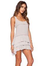 Rayon Asymmetrical Hem Regular Size Solid Dresses for Women