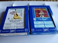 LOT OF TWO 2 HANK WILLIAMS GREATEST HITS & ON STAGE Play TESTED 8 TRACK TAPE VG+