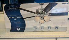 """Harbor Breeze Barnstaple Bay 52"""" Brushed Nickel Ceiling Fan w/ Light Kit"""