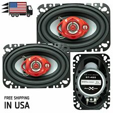 "New Soundxtreme 4x6"" in 3-Way 220 Watts Coaxial Car Speakers CEA Rated (Pair)"