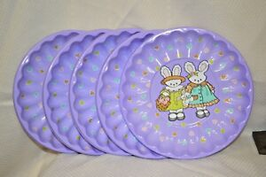 SETS 5 CT Mix and Match Plastic Serving DISH EGGS BUNNY Easter FOOD Bowls PARTY