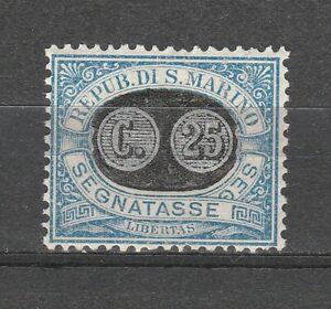 s37618 SAN MARINO MNH** 1931 Segnatasse c.25 su c. 5 1v Sassone 38