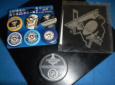 Lot 3pcs, WINCRAFT Pittsburgh Penguins  Buttons, Window Sticker & Puck,New