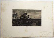 """Lithographie, François-Louis FRANCAIS, """" Paysage au héron"""""""""""
