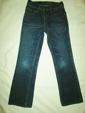 Gap Kids 1969 Boot Distressed Blue Denim Jeans, Adjustable Waist - Size 8 Slim