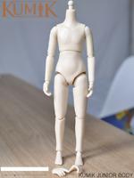 KUMIK 8.5'' 1/6 Little Girl Junior Body Model Pale Female Seamless Figure Toy