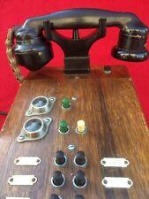 Téléphone Ancien Vintage Phone Bakélite & Bois