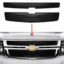 2015-2018 Chevy Tahoe Suburban BLACK Snap On Grille Overlay Grill Covers Inserts