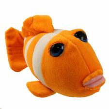 Stuffed Animal Toy Plush - AQUATIC SEA CREATURES - ORANGE CLOWN FISH (10 inch)