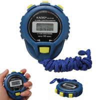 LCD Chronograph Digital Timer Stopwatch Sports Counter Odometer Watch Alarm