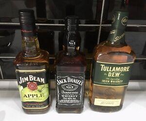 Whiskey Jim Beam Apple, Jack Daniels,  Tullamore Dew 0,7 Flaschen