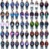 Fashion Women's Men's 3D Starry Sky Printed Sweatshirt Pullover Hoodies Tops